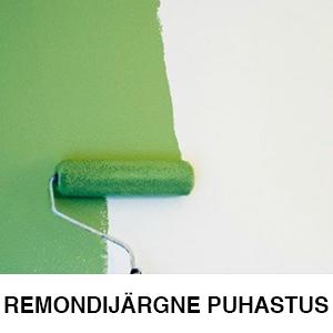 REMONDIJÄRGNE PUHASTUS